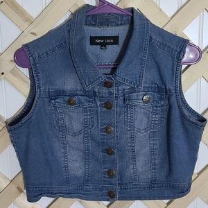 New Look Blue Denim Vest